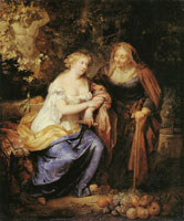 Caspar Netscher Vertumnus and Pomona