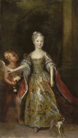 Antoine Pesne Portrait of a lady, probably Archduchess Maria Anna of Austria