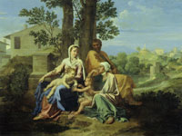 Nicolas Poussin - The Holy Family with SS John and Elizabeth in a Landscape