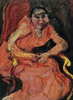 Chaim Soutine Woman in Pink