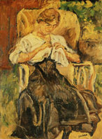Chaim Soutine - Young Woman in a Rocking Chair