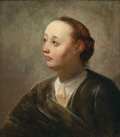 Pieter de Grebber Bust-length Portrait of a Woman in an Interior