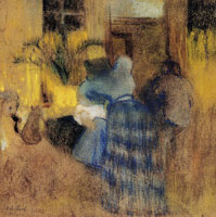 Edouard Vuillard Interior, Blue and Yellow Harmony