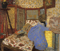 Edouard Vuillard Lady in Blue and Child