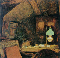 Edouard Vuillard The Attic at Valvins. Thadée Natanson at His Worktable