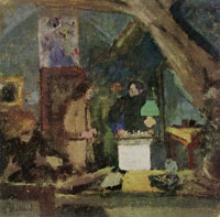 Edouard Vuillard The Attic at Valvins. The Lamp