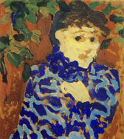Edouard Vuillard Woman in a Blue Brocade Blouse
