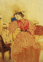 Edouard Vuillard Young Lady in Red