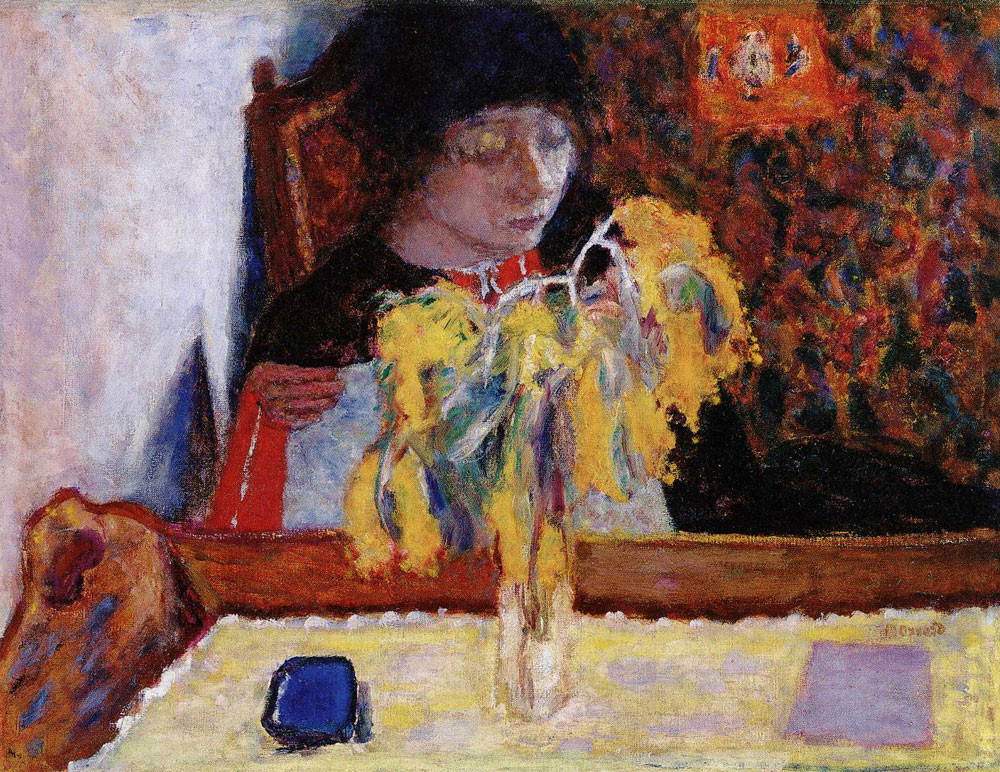 Pierre Bonnard - Woman with Mimosa