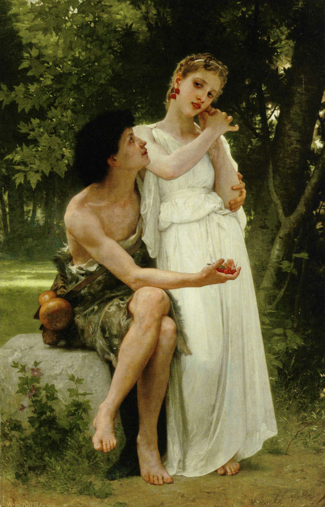 William-Adolphe Bouguereau - First Jewels