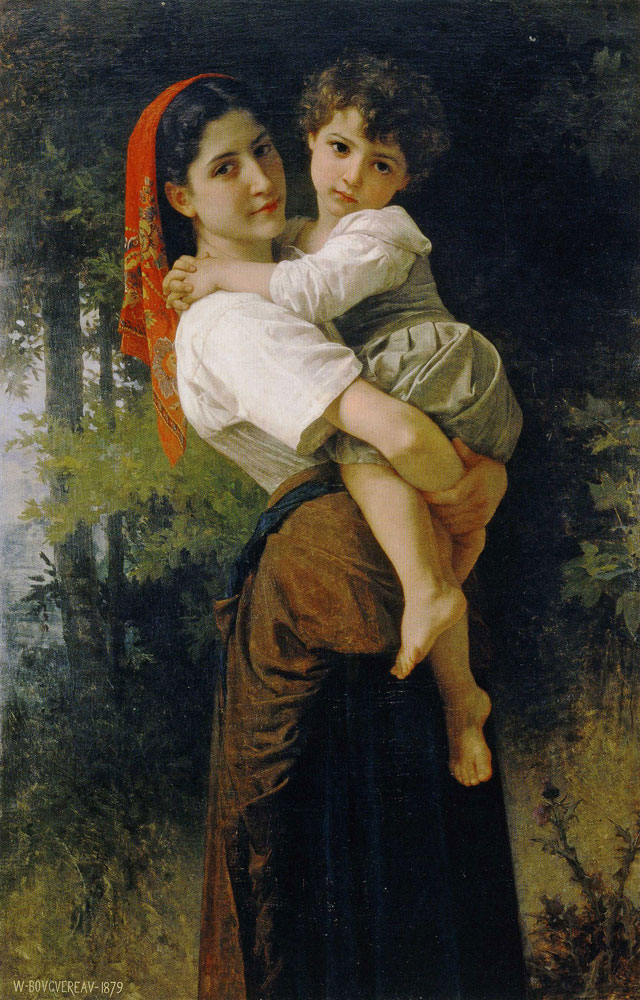 William-Adolphe Bouguereau - Girl Holding a Child
