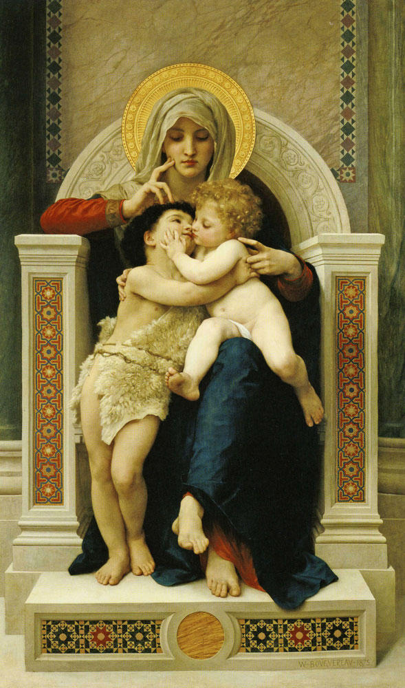 William-Adolphe Bouguereau - The Virgin, the Child Jesus, and St. John the Baptist