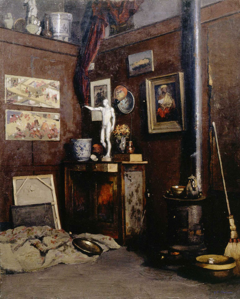 Gustave Caillebotte - Interior of a Studio with Stove