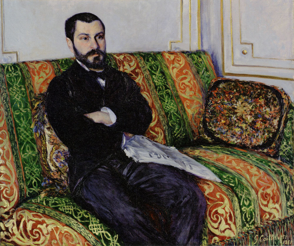 Gustave Caillebotte - Portrait of Richard Gallo