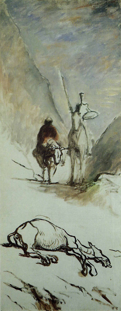 Honoré Daumier - Don Quixote and the Dead Mule