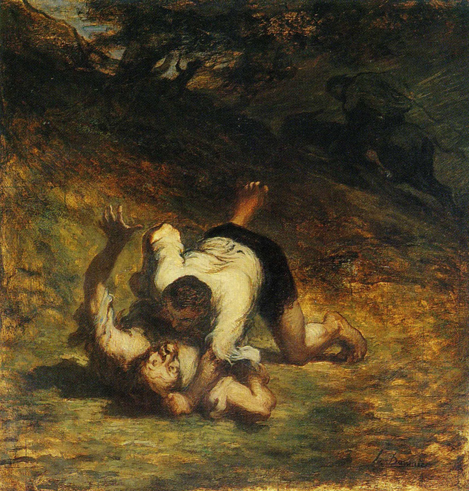 Honoré Daumier - The Thieves and the Donkey
