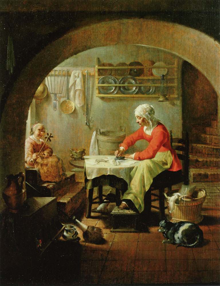 Jacob Duck - Woman Ironing