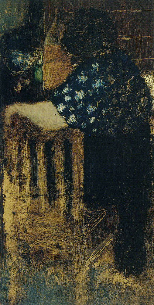Edouard Vuillard - Back View of a Woman with Elbow Propped on a Chair
