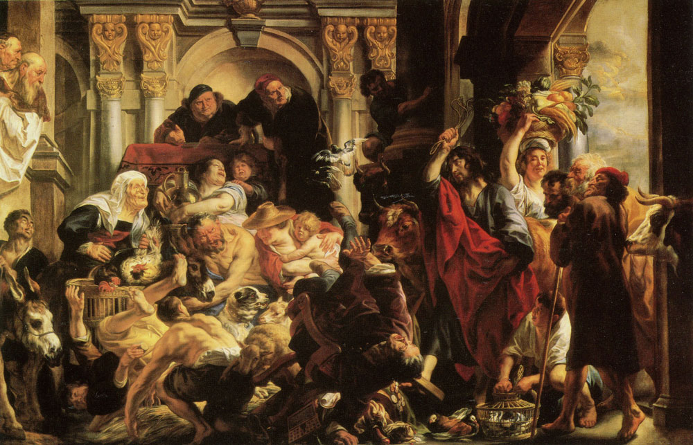 Jacob Jordaens - Jesus Driving the Traders from the Temple