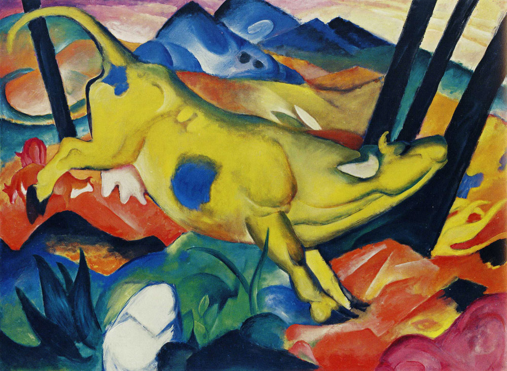 Franz Marc - The Yellow Cow