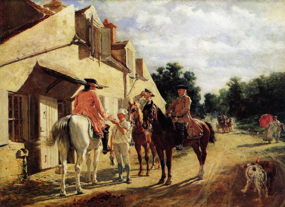 Ernest Meissonier - At the Relay Station