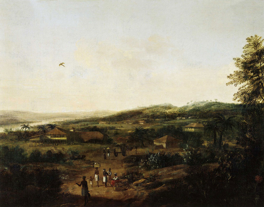 Formerly attributed to Frans Post - River Landscape