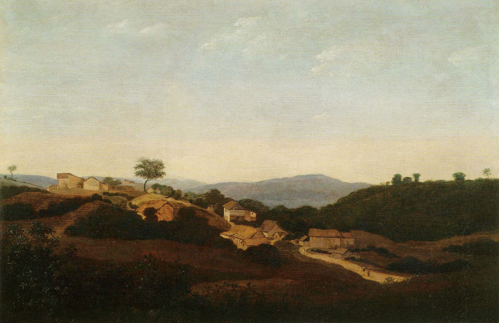 Frans Post - Small Village in the Mountain