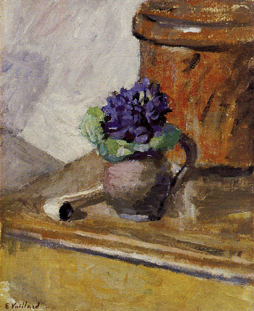 Edouard Vuillard - Bouquet of Violets and Clay Pipe