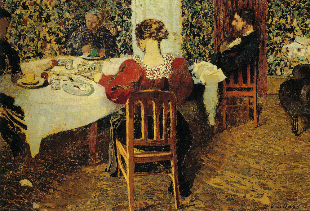 Edouard Vuillard - The End of Lunch in the Vuillard Home