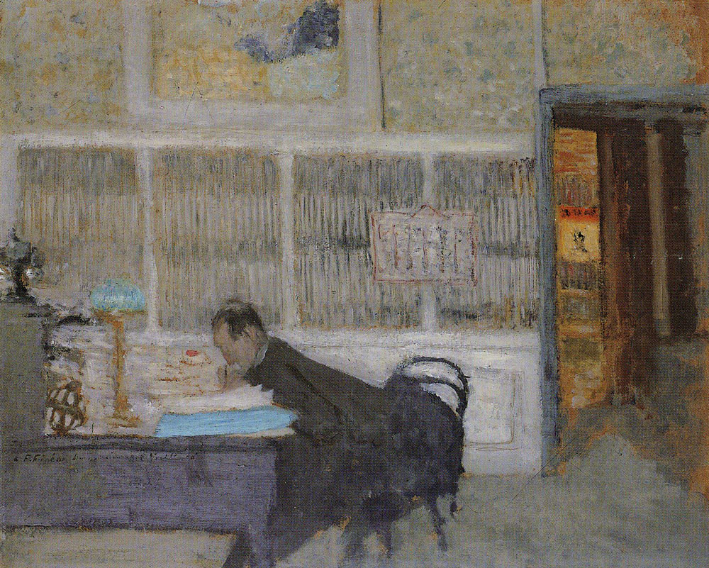 Edouard Vuillard - Félix Fénéon in the Offices of La Revue Blanche
