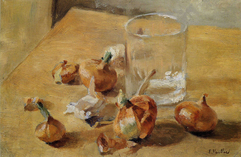 Edouard Vuillard - Flat-Bottomed Glass and Onions