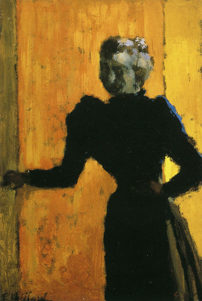 Edouard Vuillard - Woman in a Blue Blouse against a Yellow Background