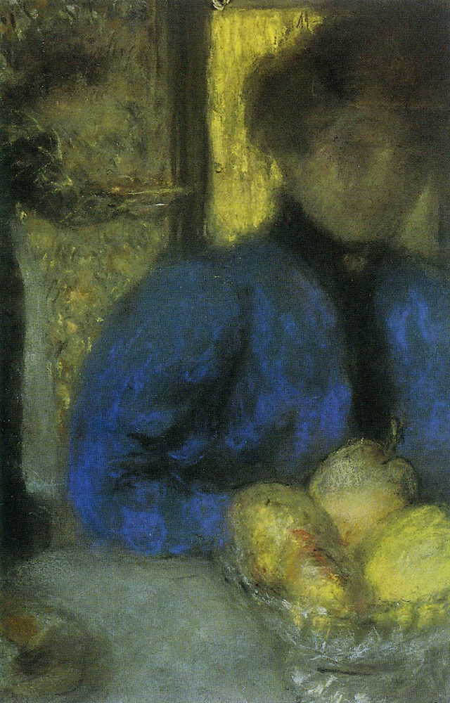 Edouard Vuillard - Woman in Blue with a Bowl of Fruit