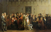 Louis-Léopold Boilly - Meeting of Artists in the Atelier of Isabey