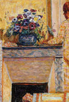Pierre Bonnard Flowers on the Mantelpiece at Le Cannet