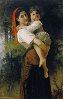 William-Adolphe Bouguereau Girl Holding a Child