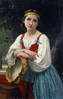 William-Adolphe Bouguereau - Gypsy Girl with a Tambourine