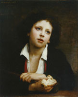 William-Adolphe Bouguereau - Italian Child holding a Crust of Bread