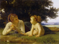 William-Adolphe Bouguereau The Temptation