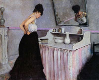 Gustave Caillebotte Woman at a Dressing Table