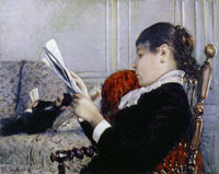 Gustave Caillebotte Interior: Woman Reading