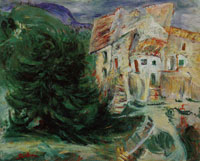 Chaim Soutine Large Tree in a Village of the Midi