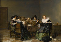 Pieter Codde - An Interior with Musicians Seated around a Table