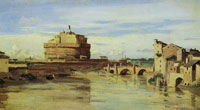 Jean-Baptiste-Camille Corot The Castel Sant'Angelo and the Tiber, Rome