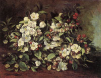 Gustave Courbet Apple Tree Branch in Flower