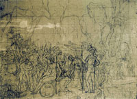 Jacques-Louis David Compositional Study for Leonidas at Thermopylae