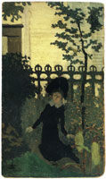 Edouard Vuillard Little Girl in Front of Some Railings