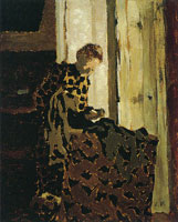Edouard Vuillard Marie at the Window, Brushing a Garment