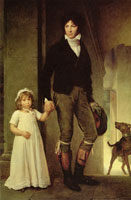 François Gérard Jean-Baptiste Isabey and His Daughter Alexandrine