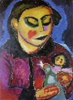 Alexej von Jawlensky - Girl with doll